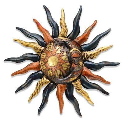 Mexican Metal Wall Art Pertaining To Well Known Mexican Metal Wall Art Sun & Moon Indoor & Outdoor (View 12 of 15)