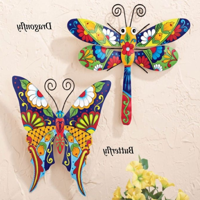 Mexican Metal Yard Wall Art Intended For Most Popular Metal Butterfly Wall Art Outdoor Patio Garden Fence, Mexican Outdoor (View 6 of 15)