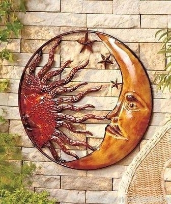 Mexican Metal Yard Wall Art Metal Celestial Moon Sun Decor Garden Pertaining To Preferred Mexican Metal Yard Wall Art (View 7 of 15)