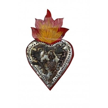 Mexican Metal Yard Wall Art With Well Known Mexican Wooden Heart With Milagros Small Wall Art (View 11 of 15)