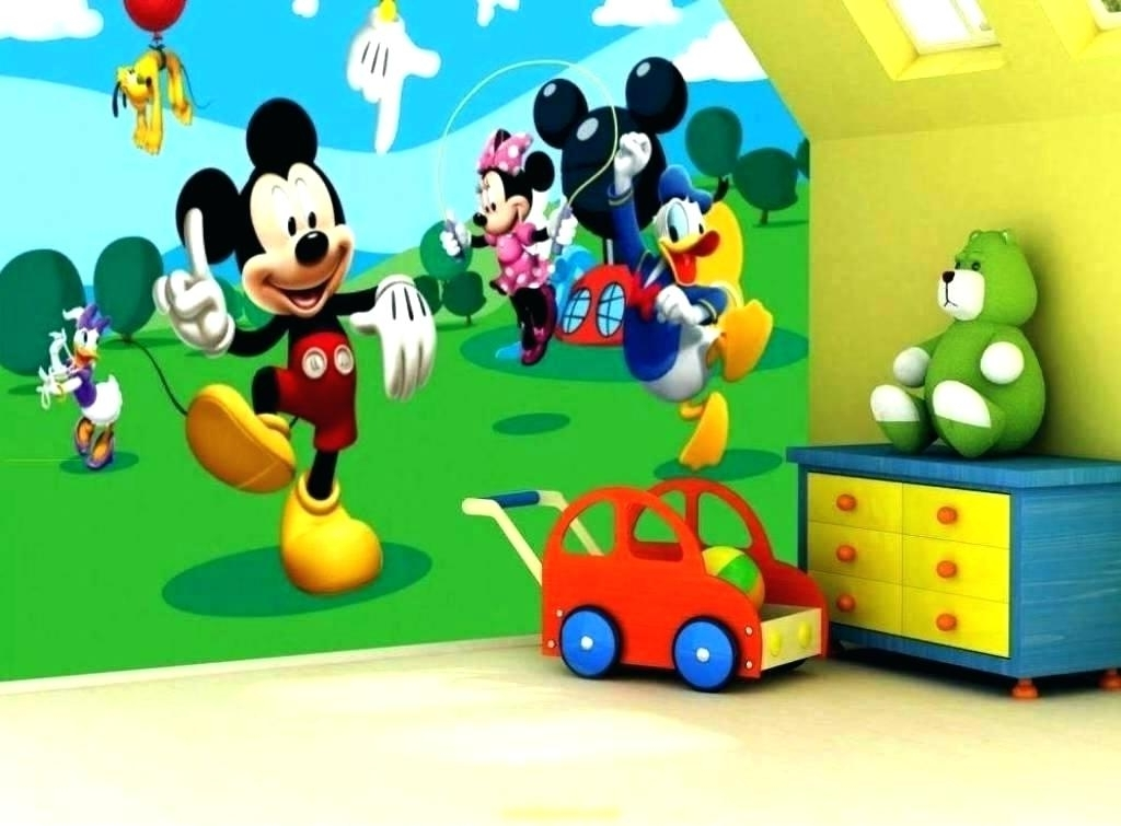 Mickey Mouse Clubhouse Wall Art Regarding 2018 Mickey Mouse Wall Pictures Decals For A Playful And Magical Nursery (View 6 of 15)