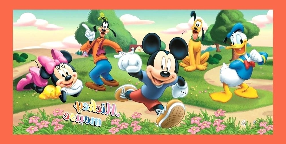 Mickey Mouse Clubhouse Wall Art With Regard To 2017 Mickey Mouse Clubhouse Wall Art Wall Art Decor Ideas Stickers Mickey (View 8 of 15)