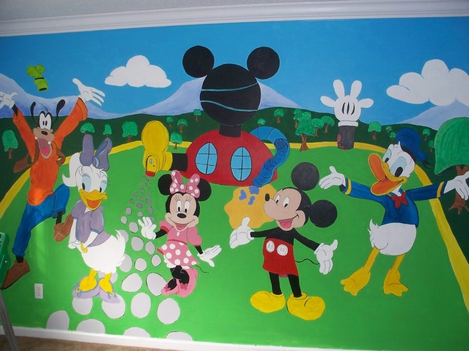 Mickey Mouse Clubhouse Wall Art Within Latest The Most Awesome In Addition Cool Mickey Mouse Clubhouse Wall Decals (View 9 of 15)