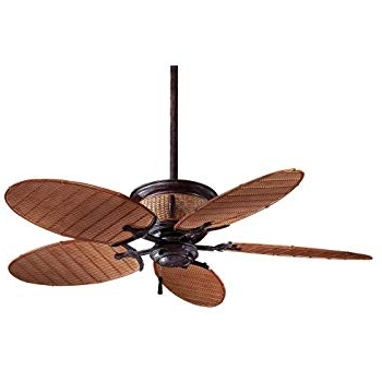 Minka Aire F580 Vr/bb, Shangri La Vintage Rust 52 Inch Outdoor With Regard To Preferred Minka Outdoor Ceiling Fans With Lights (View 10 of 15)