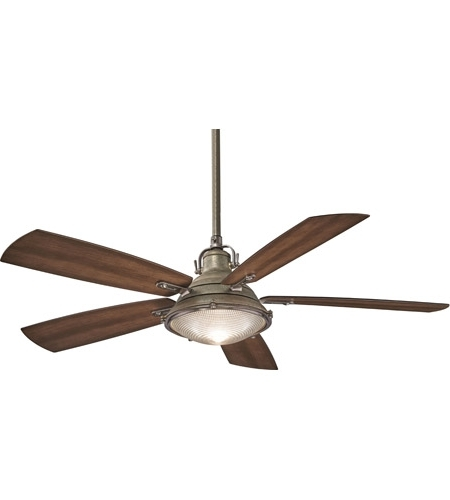 Minka Aire F681 Wa/pw Groton 56 Inch Weathered Aluminum With Dark With Regard To 2018 Outdoor Ceiling Fans With Aluminum Blades (View 6 of 15)