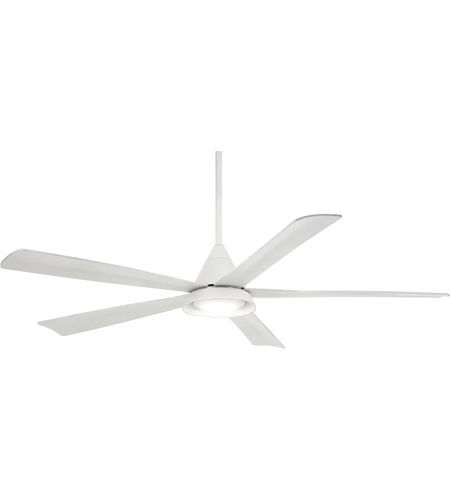 Minka Aire Outdoor Ceiling Fans With Lights For Recent Minka Aire F541L Wh Cone 54 Inch White Outdoor Ceiling Fan (View 6 of 15)
