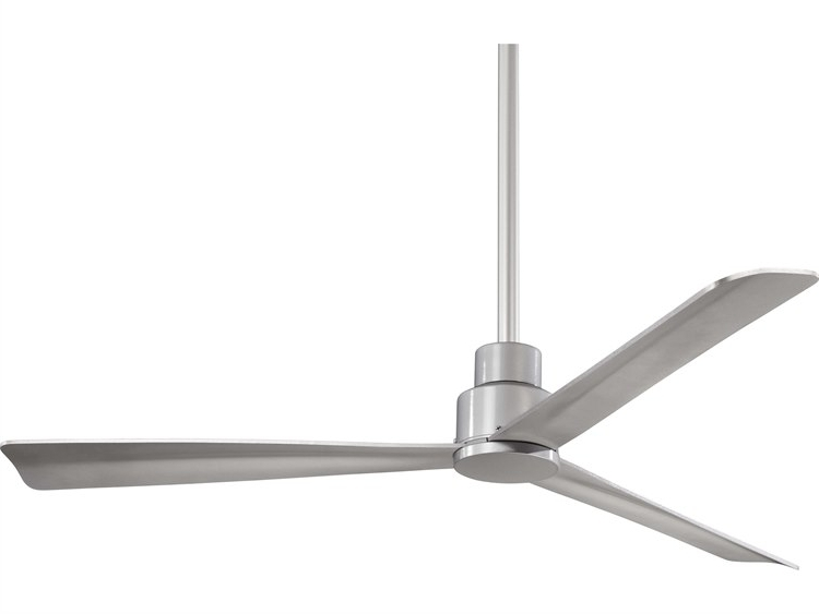 Minka Aire Simple Silver 52'' Wide Outdoor Ceiling Fan (View 11 of 15)
