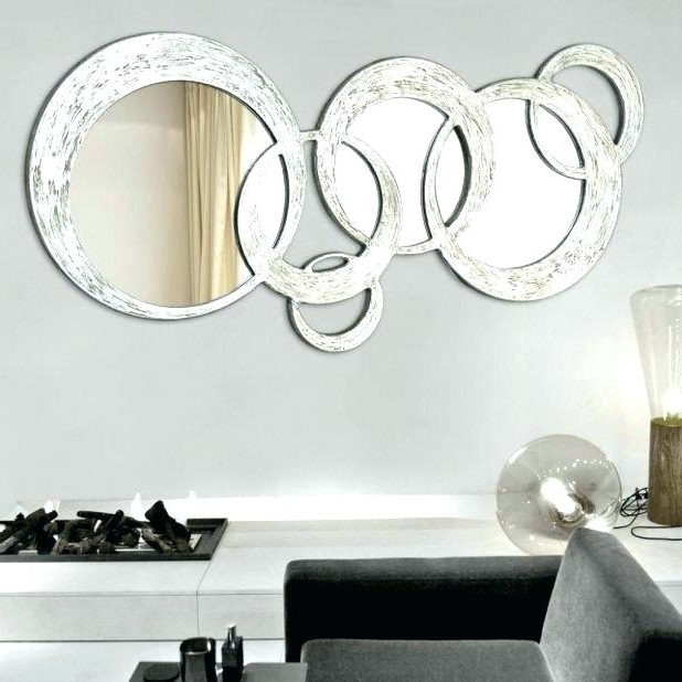 Mirror Circles Wall Art In Most Up To Date Mirror Circles Wall Art Chrome Silver Finish Style Round Circle (View 8 of 15)