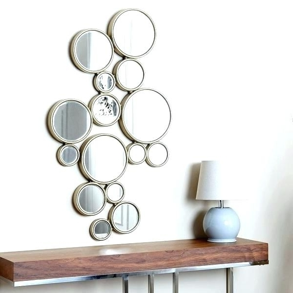 Mirrored Circles Wall Decor Clock Round Mirror Wall Art Amazing Intended For Well Known Mirror Circles Wall Art (View 10 of 15)