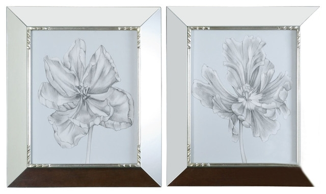 Mirrored Frame Wall Art For Most Popular Mirrored Frame Wall Art – Elitflat (View 3 of 15)