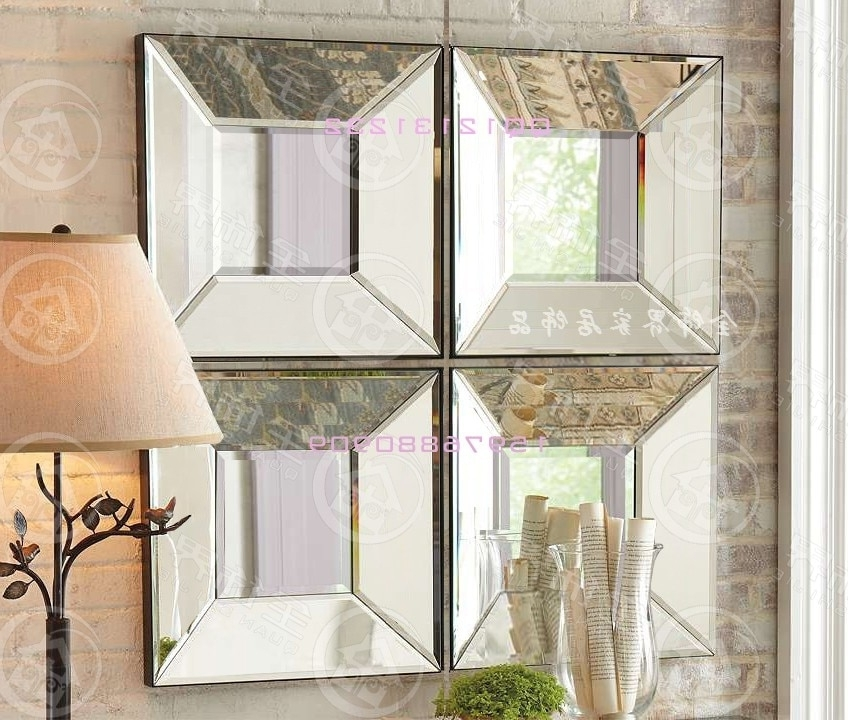Mirrored Frame Wall Art Throughout Newest Modern Mirrored Wall Decor Bevel Square Creative Mirror Framed Wall (View 7 of 15)