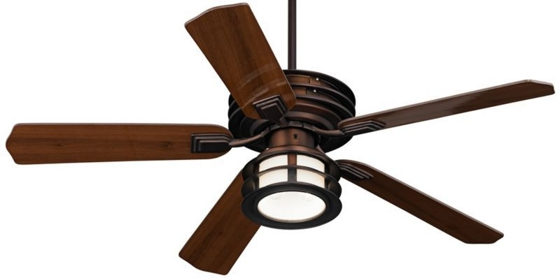 """Mission Style Outdoor Ceiling Fans With Lights For Newest Casa Vieja Mission Ii Outdoor Ceiling Fan – 52"""" Bronze – Euro Style (View 7 of 15)"""