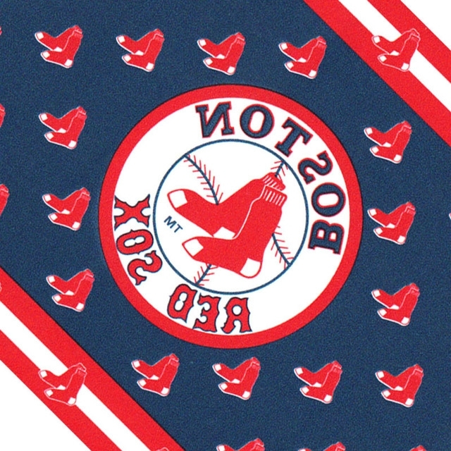 Mlb Baseball Boston Red Sox Accent Wallpaper Border Roll Intended For Current Red Sox Wall Decals (View 12 of 15)