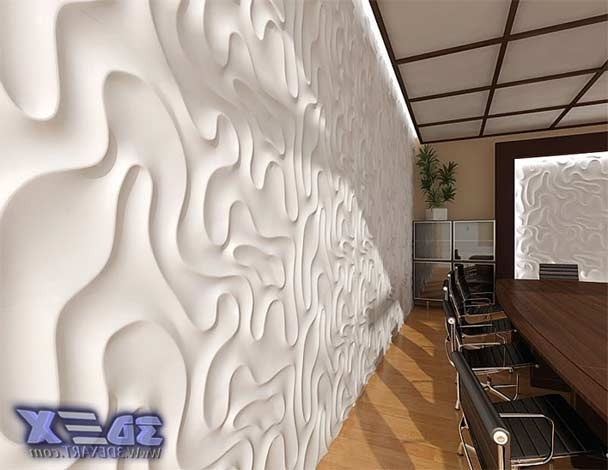 Modern 3D Decorative Wall Panels And Covering Texture Pertaining To Trendy 3D Plastic Wall Panels (View 12 of 15)