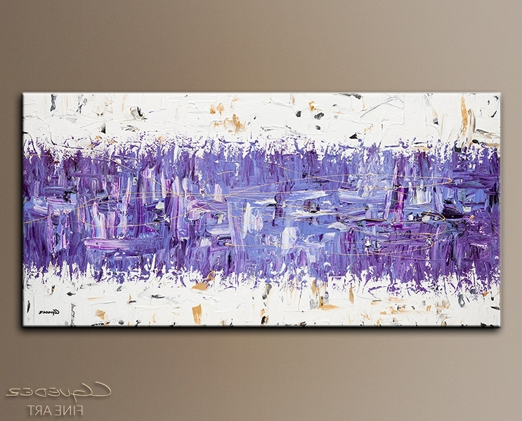 Modern Abstract Art Purple Story Contemporary Wall Art Canvas Purple With Fashionable Purple And Grey Abstract Wall Art (View 4 of 15)