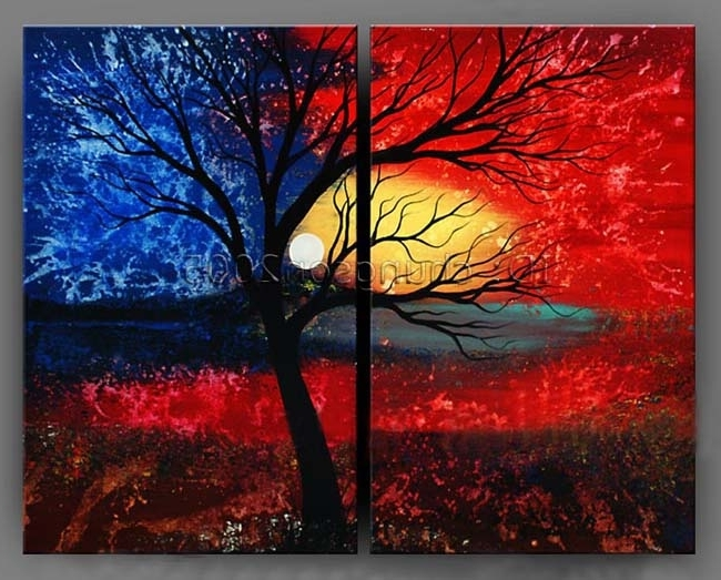 Modern Abstract Canvas Art Oil Painting (+Framed)Gop47 For Sale With Famous Modern Abstract Oil Painting Wall Art (View 6 of 15)