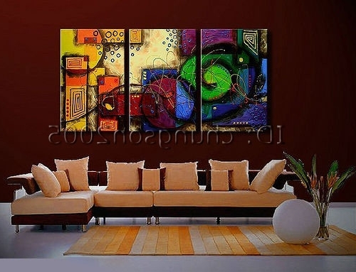 Modern Abstract Huge Oil Painting Wall Art Throughout Latest Framed!!! Modern Abstract Huge Canvas Art Oil Painting For Sale (View 9 of 15)