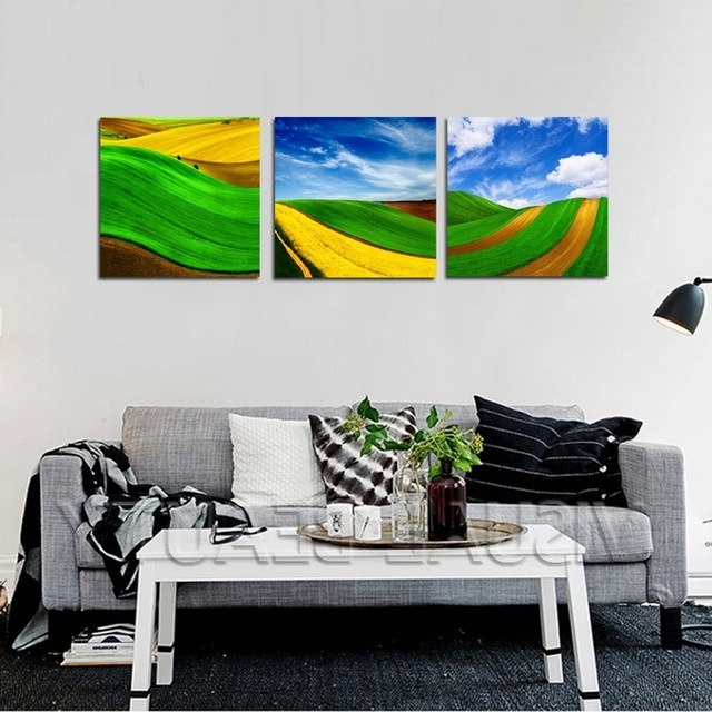 Modern Abstract Huge Wall Art In Widely Used Drop Ship 3 Panel Canvas Arts Modern Abstract Huge Wall Art Oil (View 10 of 15)
