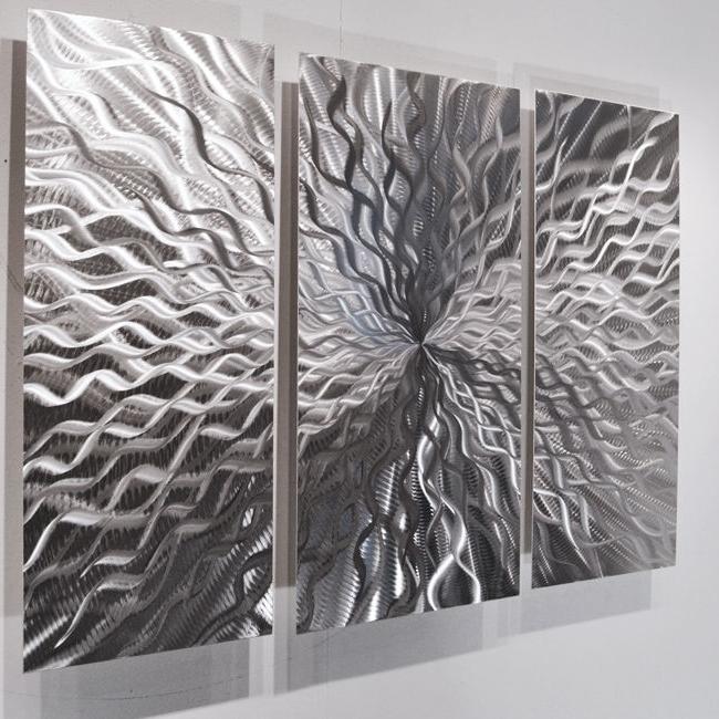 Modern Abstract Metal Wall Sculpture Art Contemporary, Contemporary Throughout 2018 Abstract Metal Wall Art Panels (View 11 of 15)