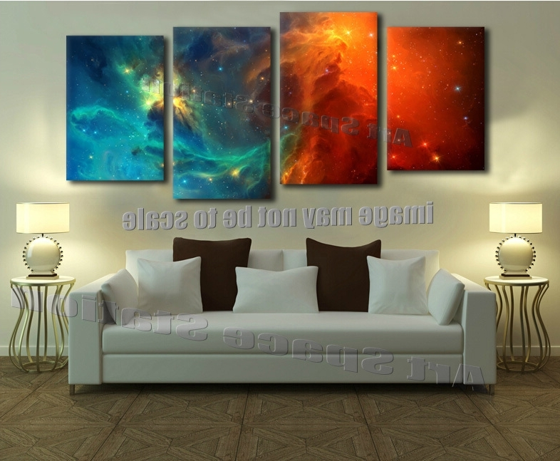 Modern Abstract Outer Space Posters And Prints (No Frame) A Kings For Most Recently Released Outer Space Wall Art (View 12 of 15)