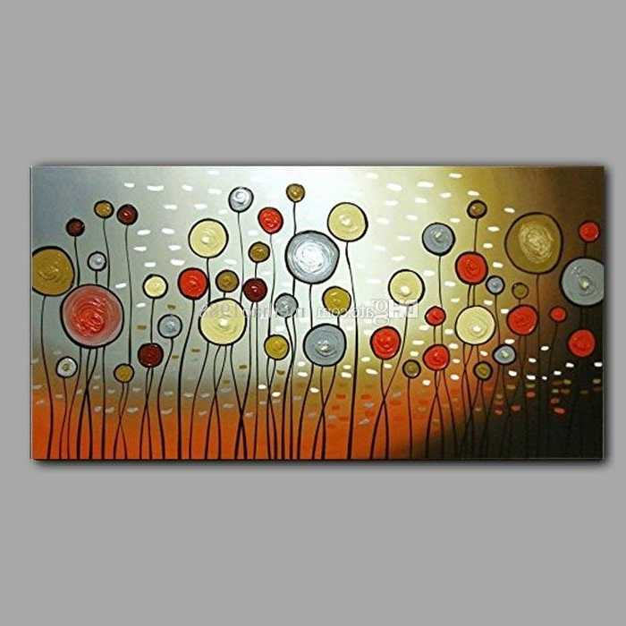 Modern Abstract Wall Art With Popular 2018 Handpainted Modern Abstract Wall Art Colour Circles Balloon (View 8 of 15)