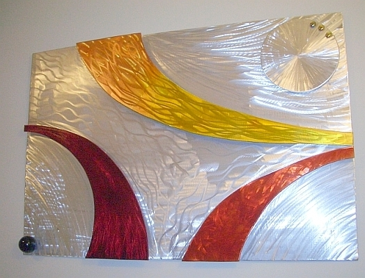 Modern Glass Wall Art With Regard To Well Liked Wall Art Sculpture And Wall Sculptures In Brushed Aluminum And Wall (View 9 of 15)
