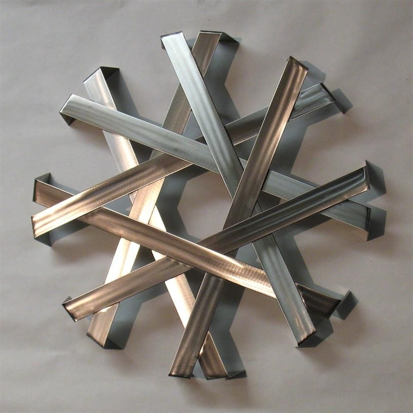 Modern Metal Intended For Fashionable Abstract Metal Sculpture Wall Art (View 3 of 15)