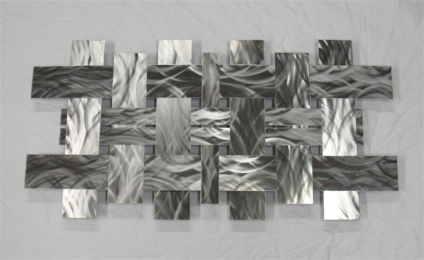 Modern Metal Wall Art – Fallow With 2018 Rectangular Metal Wall Art (View 4 of 15)