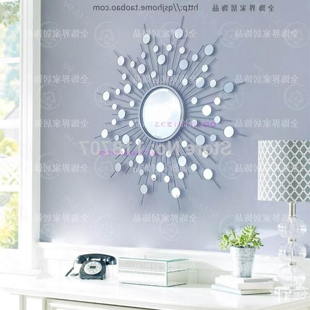 Modern Mirrored Wall Art With Regard To Famous Online Shop Metal Wall Mirror Decor Modern Mirrored Wall Art Wire (View 10 of 15)