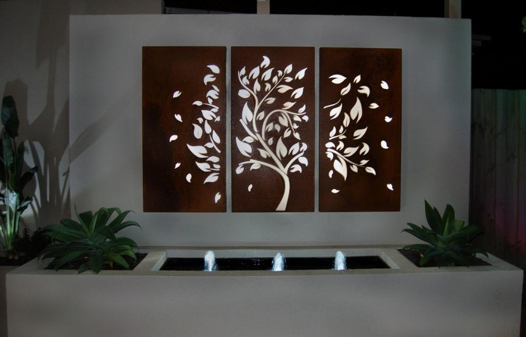 Modern Outdoor Wall Art For 2017 Style Ideas Garden Art Screens Wall Box Designs Great Outdoor Wall (View 7 of 15)