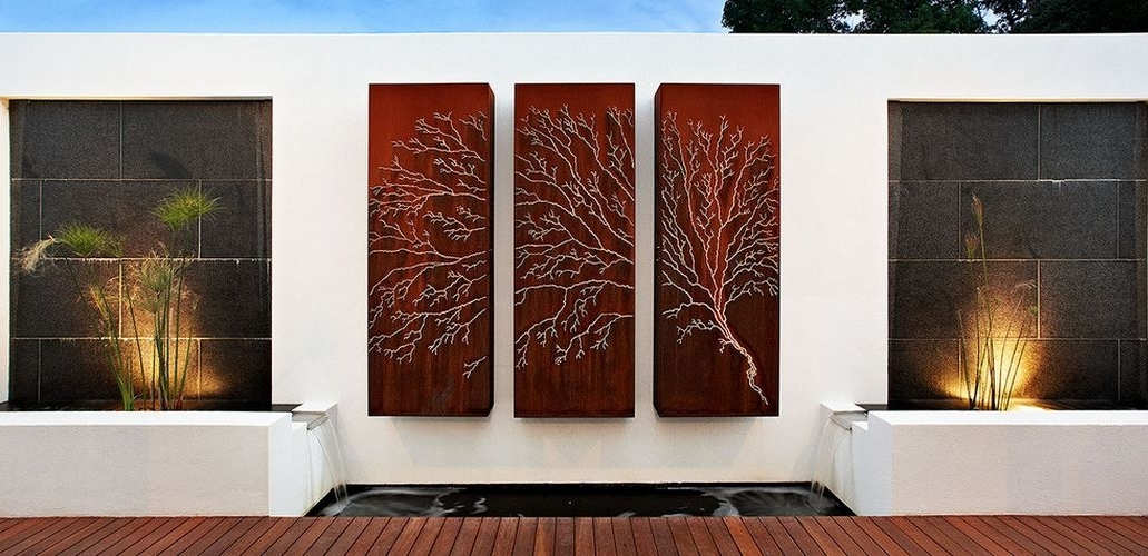 Modern Outdoor Wall Art In Well Known Modern Outdoor Wall Decor Diy : Calm And Charming Outdoor Wall Decor (View 9 of 15)