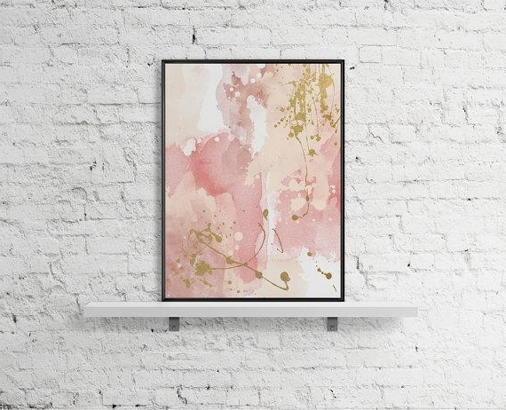 Modern Printable Wall Art Pastel Print Abstract Paint Watercolor Pertaining To Widely Used Pastel Abstract Wall Art (View 2 of 15)