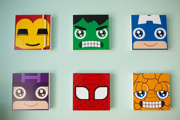 Modern Superhero Nursery – Project Nursery With Favorite Superhero Wall Art For Kids (View 13 of 15)