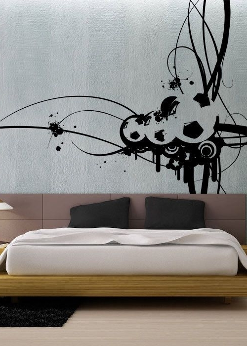 Modern Vinyl Wall Art Within Current Cool Modern Art Wall Vintage Wall Decal Vinyl Material – Wall (View 9 of 15)