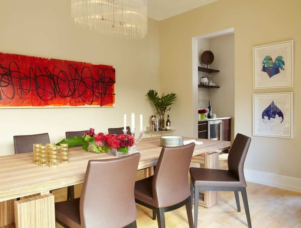 Modern Wall Art For Dining Room With Preferred Wall Paintings For Dining Room Beautiful Modern Dining Room Art  (View 8 of 15)