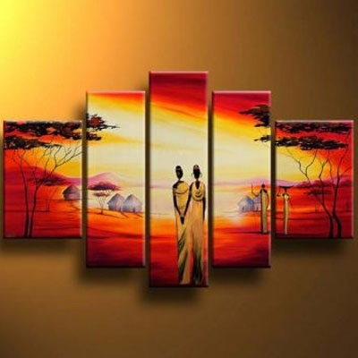 Modern Wall Art For Sale Regarding Recent Men Modern Canvas Art Wall Decor Landscape Oil Painting Wall Art (View 11 of 15)