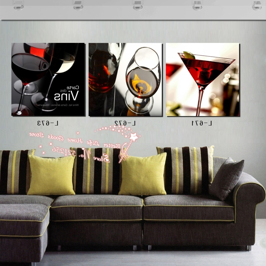 Modern Wall Art Home Decoration Printed Oil Painting Pictures No Within Recent Martini Glass Wall Art (View 10 of 15)