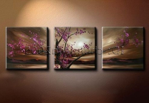 Modrn Flower Canvas Oil Painting Floral Art (+Framed) For Sale Inside Recent Cherry Blossom Oil Painting Modern Abstract Wall Art (View 11 of 15)
