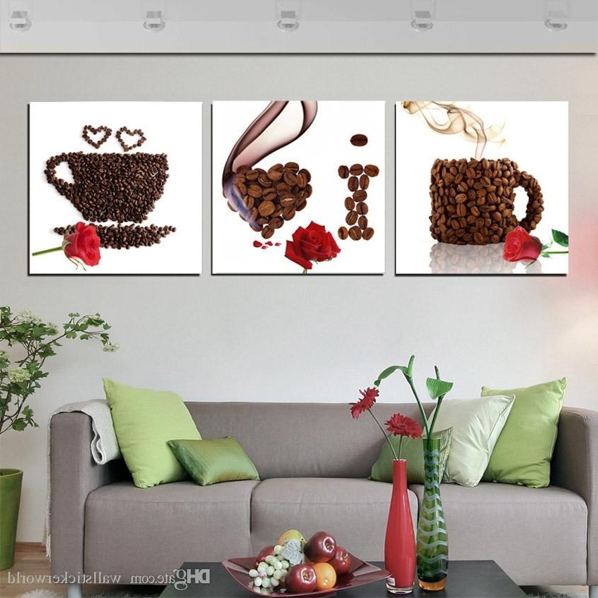Modular Wall Art In 2018 2018 Modular Canvas Prints Pictures Wall Art Framework Coffee Poster (View 5 of 15)