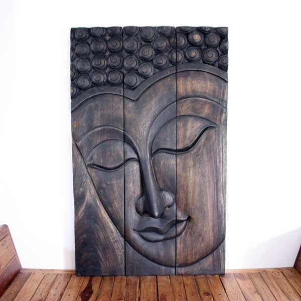 Monkey Pod Buddha, Nature With Buddha Wooden Wall Art (View 9 of 15)