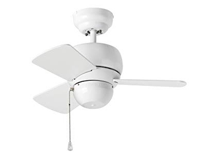 """Monte Carlo 3Tf24Wh Micro 24 Ceiling Fan, 24"""", White – Outdoor In Most Recent White Outdoor Ceiling Fans With Lights (View 13 of 15)"""