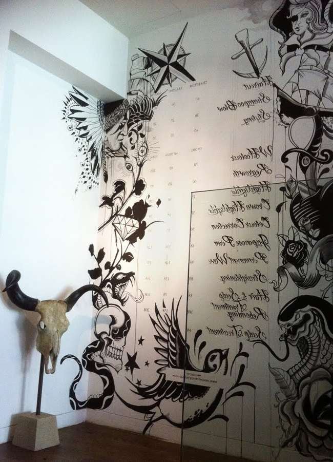 Moonstruck Tattoo: Wall Art Pertaining To Most Recent Tattoos Wall Art (View 5 of 15)