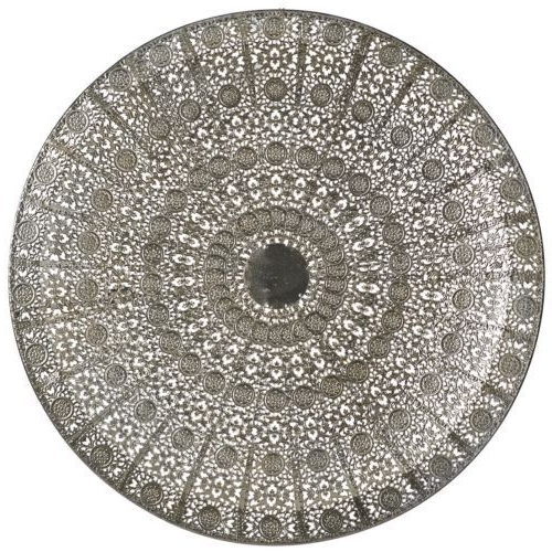 Moroccan Ethnic Filigree Circular Wall Dish Silver Metal Wall Art Pertaining To Most Recent Moroccan Metal Wall Art (View 2 of 15)