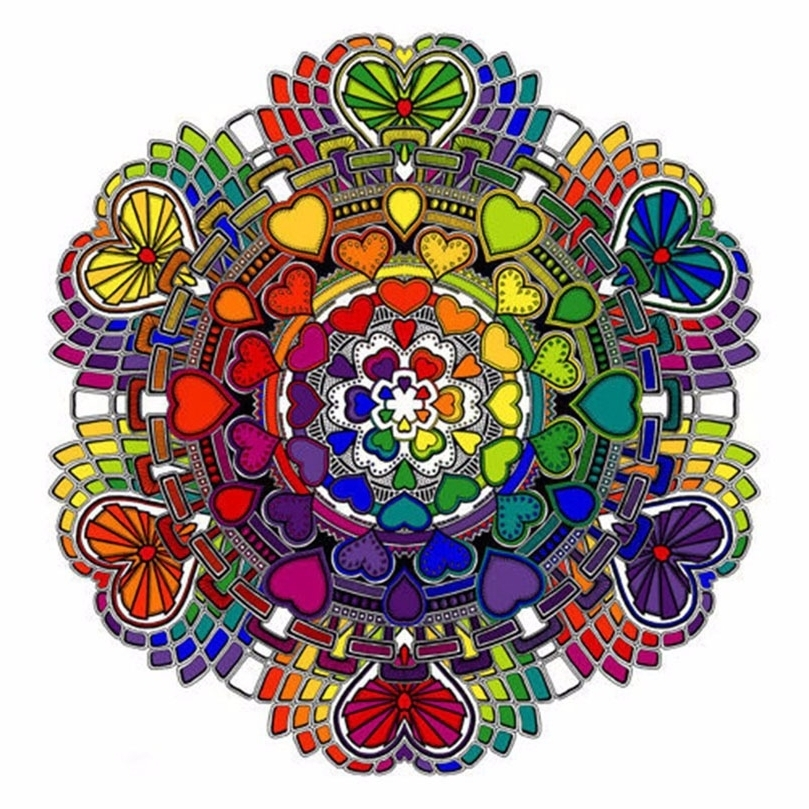 Mosaic Art Kits For Adults Within Preferred Art Diy 5D Diamond Mosaic Diamond Painting Heart Shape Mandala (View 5 of 15)
