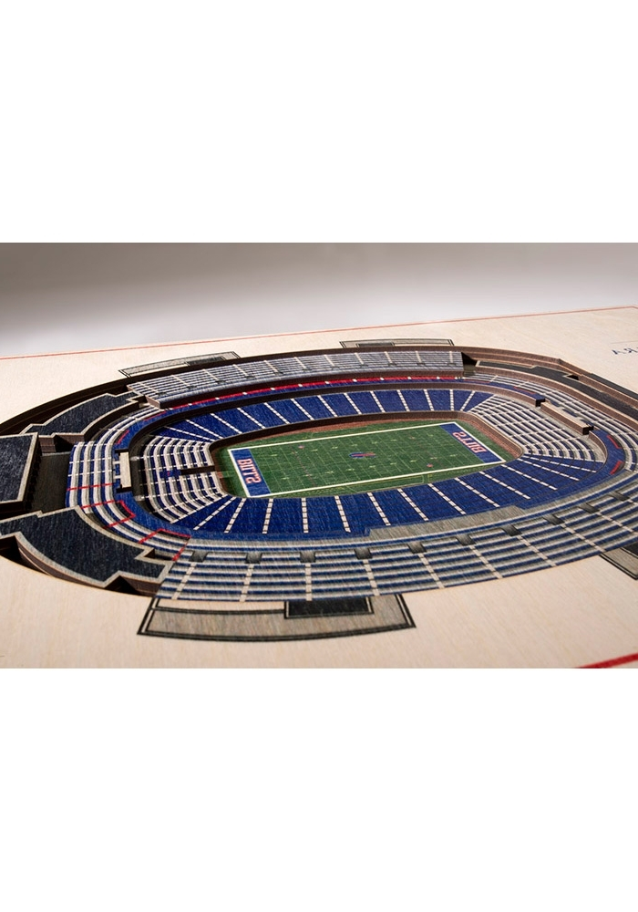 Most Current 3D Stadium View Wall Art Pertaining To Buffalo Bills 5 Layer 3D Stadium View Wall Art – (View 8 of 15)