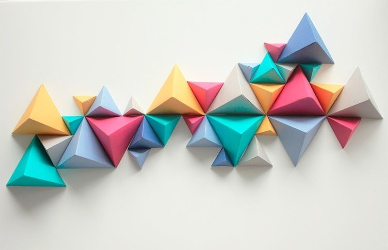Most Current 3D Triangle Wall Art Within Ideias Incríveis (E Super Baratas) Para Decorar A Sua Parede Com (View 4 of 15)