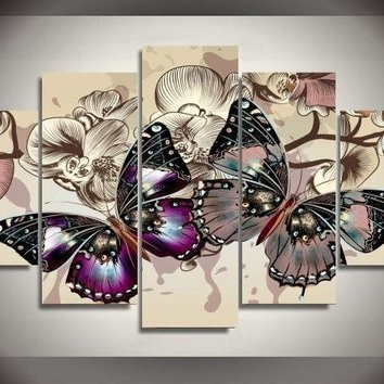 Most Current Abstract Butterfly Wall Art Intended For Shop Abstract Butterfly Paintings On Wanelo (View 8 of 15)