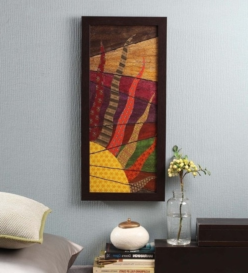 Most Current Abstract Fabric Wall Art With Regard To Buy Multicolour Fabric & Canvas 12 X 1 X 26 Inch Framed Wall Art (View 9 of 15)