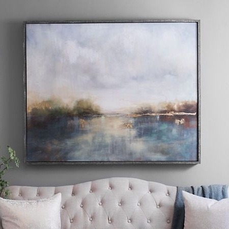 Most Current Abstract Landscape Wall Art With Abstract Landscape Framed Canvas Art Print (View 10 of 15)