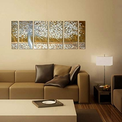 Most Current Amazon: Handmade Metal Wall Art With Soft Color Lush Tree, 3D Regarding 3D Modern Wall Art (View 11 of 15)